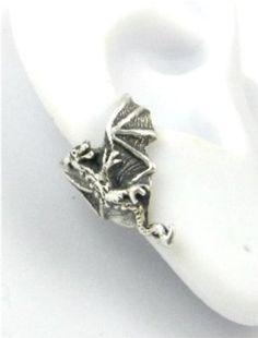 Amazon.com: Sterling Silver dragon ear cuff (cute!)