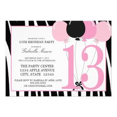 29 Best 13th Birthday Party Invitations Images 13 Birthday Parties
