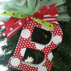 Personalized Christmas ornament -add name and date with Cricut letters