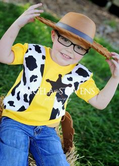 """Boys Toy Story """"Woody"""" shirt by Fit For A Prince."""