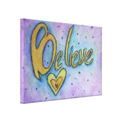 Believe Inspirational Word Painting Canvas Art wrappedcanvas