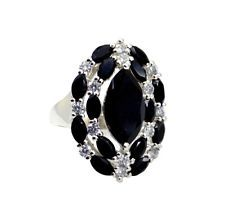angelic Black onyx 925 Sterling  Black Ring wholesale L-1in US 5678