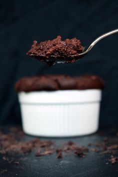 Easy Chocolate Souffle. It's easier than you think! Stir, whip, fold, bake. I can do that!