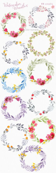 Use coupon our coupon codes to save on your order - see last picture Digital watercolor clipart for personal or small commercial use  Watercolor wreaths - quality watercolor elements collection  ------------------------------------  - 11 High resolution 300 dpi transparent background png elements  - Approximate size of elements 2200 to 3150 px  - All files are archived in ZIP. You need to un-zip the archives.  - PNG files are editable in almost any picture editing program. Note that in some…