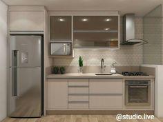 📍Projeto autoral. Cozinha pequena e charmosa.. na cor linho com espelho bronze.😍 #design #interiordesign #projetando #vray #vrayrender…