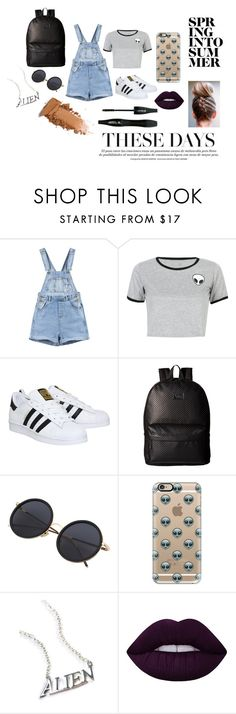"""Caroline's Alien Obsession"" by rxbx4 on Polyvore featuring WithChic, adidas, Vans, Casetify, Disturbia, Lime Crime and Lancôme"