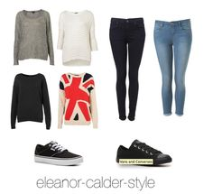 Inspired outfit with Black Vans and Converse - Grey Sweater White Sweater  Black Sweater Union Jack a226e8f670