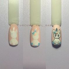Semi-permanent varnish, false nails, patches: which manicure to choose? - My Nails Trendy Nails, Cute Nails, My Nails, Unicorn Nails Designs, Unicorn Nail Art, Animal Nail Art, Kawaii Nails, Christmas Nail Art, Nail Decorations