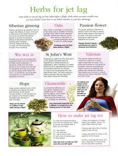 Herbs for jet lag