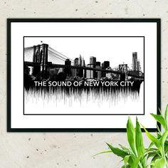Friday news! The new city sound wave art! I love NY!