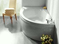 Additional image of Carron Dove Offset Corner Left Hand Bath 1550 x 950mm