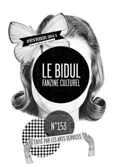 Le Bidul, fanzine culturel n°153 (fev 2011) / illustration Mathilde Aubier