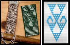 SIMPLE WARP FLOATS – a little less simple, a lot more stunning! I have been playing around with simple warp float patterns this week looking for new designs in books and on weavings that I ha… Inkle Weaving Patterns, Bead Loom Patterns, Loom Weaving, Inkle Loom, Tablet Weaving, Textiles, Tapestry Crochet, Diy And Crafts, Chart