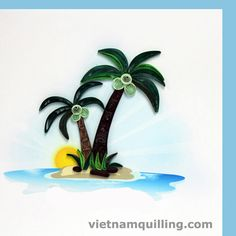 Quilling. Palm trees