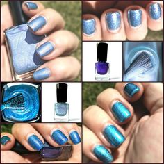 Shades of blue nail polish from TGIY's Enchanted Forest Collection. Vegan, cruelty-free, and nontoxic long-wear nail polish for the geek in you.