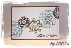 Anett´s Kreativkiste Geburtstagskarte mit Ornamenten Karte gestempelt