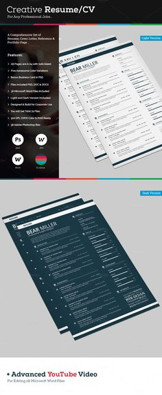 Professional Templates Resume CV Template, Professional Templates - download microsoft resume templates