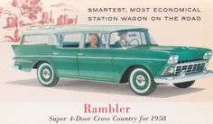 1958 Rambler Rebel postcard