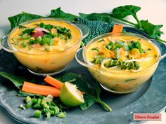 Kókusztejes zöldségleves rizstésztával