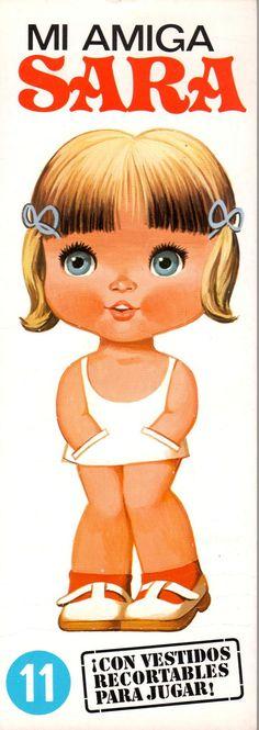 Cristina, Marisa, Paquita, Rosita, Sara e Charo. Bonecas de Papel especial para colecionadores, da coleção cabeçudas .Oferecidas gentilme...