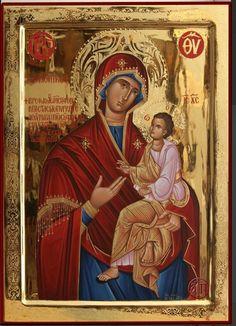 Παναγια Γοργοεπηκοος True Faith, Religious Icons, Ikon, Jesus Christ, Religion, Greek, Painting, Art, Religious Pictures