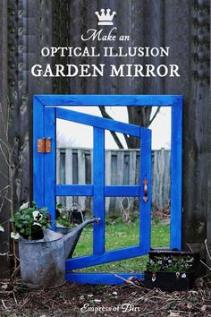 How to make an optical illusion garden art mirror