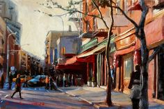 Buy Original Art by Jonelle Summerfield | oil painting | Afternoon in Greenwich Village II at UGall