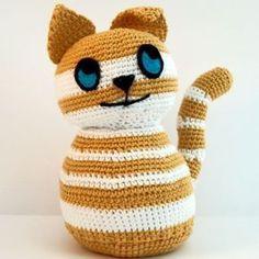 Crochet Cat Pattern, Free Pattern, Crochet Patterns, Cat Crochet, Chewbacca, Crochet Gifts, Crochet Toys, Doorstop Pattern, Crochet Supplies