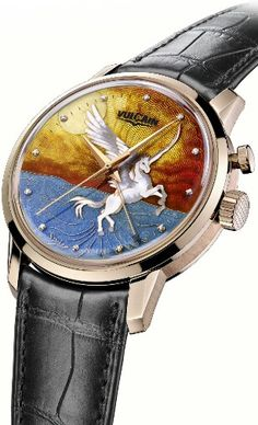 Vulcain 50s President Cloisonne Grand Feu 'Only Watch Pegasus' for ONLY WATCH 2015 -
