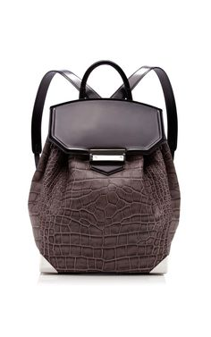 Oyster Embossed Croc Prisma Backpack by Alexander Wang for Preorder on Moda Operandi