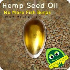 Hemp Seed Oil - No More Fish Burps!