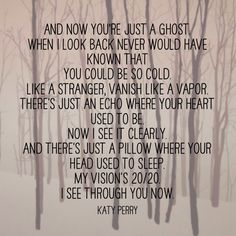 Katy Perry Ghost ... Amazing song