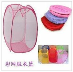 """BDS - Mesh Fold Laundry Basket / Laundry Bag (Pink Color) by Best Deal Shopper (BDS). $8.95. Folds into pouch for easy storage when not in sue (within 1 sec). Dimension: 14"""" x 14"""" x 23""""; Ultra light weight: 3 onces. UPC 6522900022929 and BDS are licensed trademarks of Best Deal Shopper, LLC. Easy to open and easy to carry (with side pockets for carrying supplies). allow clothes to breathe to reduce ordrs and midlew. The mesh design allows your worn clothes to breathe which reduc..."""