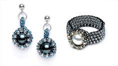 Nestle pearls in peyote stitch bezels to make elegant jewelry