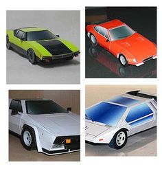 Paperized: Classic Italian Cars and F-1 Paper Models