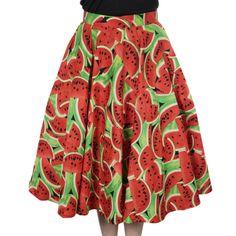 Miss Elinor -Watermelon Hame Watermelon, Pin Up, Floral, Skirts, Fashion, Moda, Fashion Styles, Flowers, Skirt