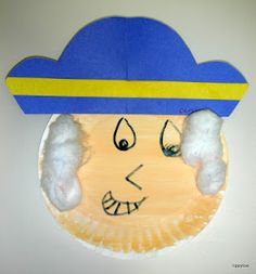 Paper plate George Washington from Tippytoe Crafts