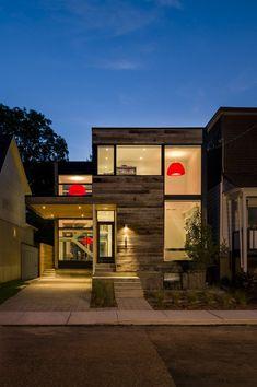 External Cladding Minimalist Zen Like Barn With External Cladding in Ottawa, Canada
