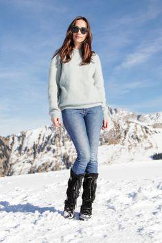 How To Wear Snow Boots (Sans The Snowsuit. Apres Ski ... 5756620f9