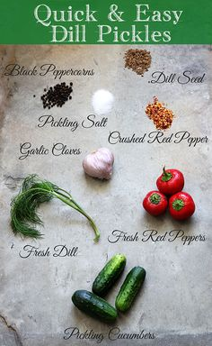 Quick and easy recipe for Dill Refrigerator Pickles - no real canning skills required