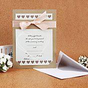Sweaty Wedding Invitation With Ribbon (Set of... – USD $ 59.99