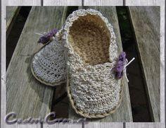 Baby Espadrilles - gehäkelt - crocheted