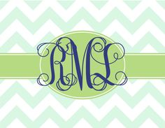 Chevron custom personalized handmade cards by gracieandco on Etsy, $22.50