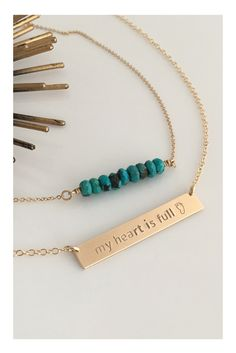 Beaded Turquoise or Labradorite Necklace with stones hand strung on our 14K Gold Fill Chain. This delicate beaded Rondelle necklace is great for layering and everyday wear. A Perfect Gift for Her, birthday gift, bridesmaid gift or christmas gift.