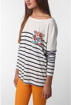 stripes and flowers! My two favorite patterns!! So cute!