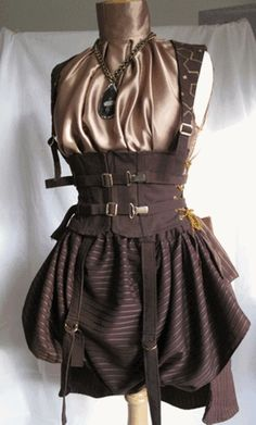 Steampunk Outfit with Corset and Buckles - Adventure Ahoy!!!