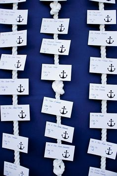 nautical seating cards.. this made me think of you @Hannah Mestel Fillmore