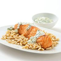 Dinner Fitness Magazine's Cumin Salmon with Cucumber Sauce