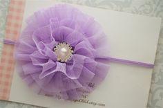 Lavender Baby Headband  Lavender Headband  by MyMondaysChild, $7.99
