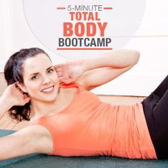5- Minute Total Body Bootcamp. This boot camp is fun, challenging, rewarding, and only 5 minutes! #5minuteworkout